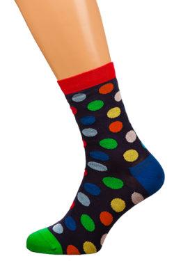 Носки разноцветный горох X-F31