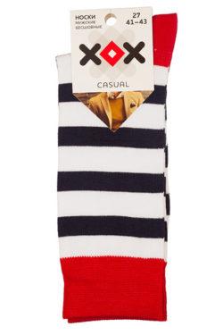 Мужские носки в полоску X-F4
