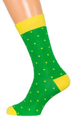 Носки зеленые с желтым XF-27