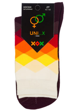 Носки с ромбами unisex XF-37