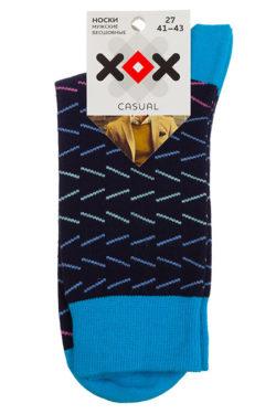 Носки черные с голубым XF-53