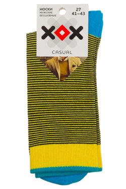 Носки желтые в полоску XF-54