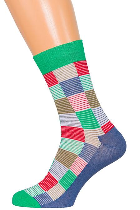 Носки разноцветные квадраты XF-55